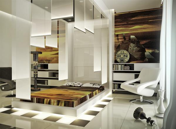 futuristic interiors